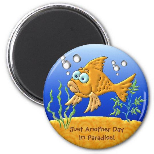 Bill The Fish 6 Cm Round Magnet