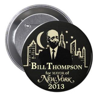 Bill Thompson NYC Mayor 2013 7.5 Cm Round Badge