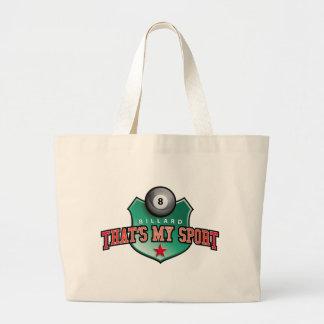 billard - that's my sport jumbo tote bag