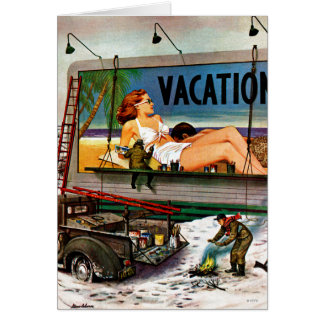 Billboard Painters in Winter by Stevan Dohanos Card