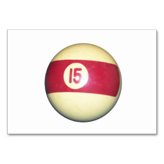 Billiard Ball #15 Table Cards