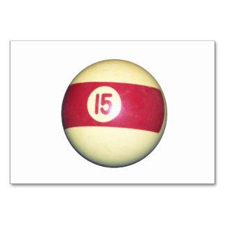 Billiard Ball #15 Table Cards