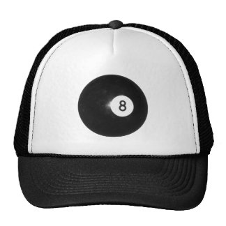 Billiard Ball #8 Cap
