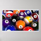 Billiard Ball Wall Poster