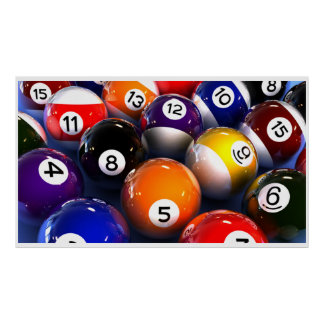 Billiard Ball Wall Poster