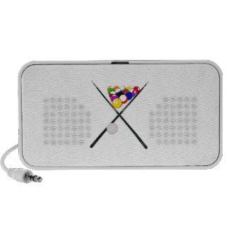 Billiard Balls and Pool Cues iPod Speakers