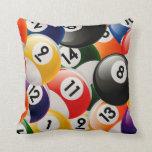 Billiard Balls Collage Pillows