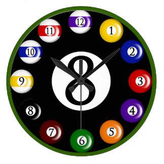 Billiard Balls Wall Clock