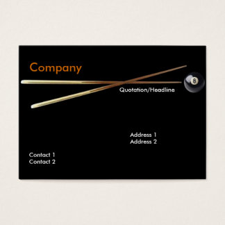 Billiard Business Card