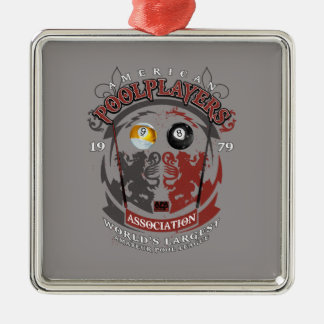 Billiard Lions Christmas Ornament