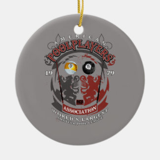 Billiard Lions Christmas Ornament