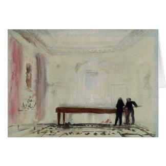 Billiard players at Petworth House, 1830 Greeting Card