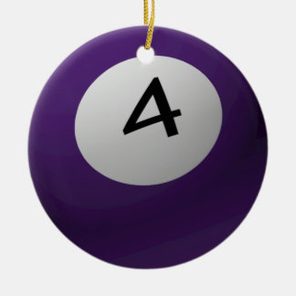 BILLIARD / POOL  BALL CHRISTMAS ORNAMENT 4 (FOUR)