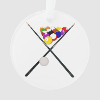 Billiard Pool Balls and Cues Ornament