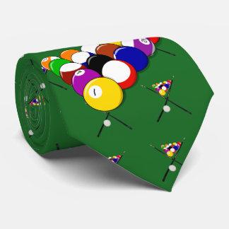 Billiard Pool Balls and Cues Tie