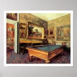 Billiard Room at Meni-Hubert by Degas Posters