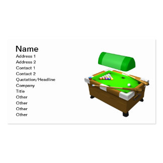 Billiards 3 pack of standard business cards
