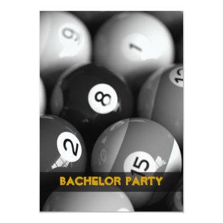 Billiards Bachelor Party Invitation Cards