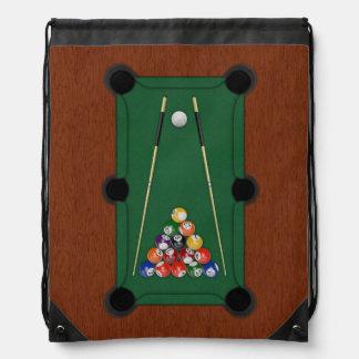 Billiards Cinch Bags