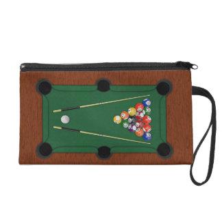 Billiards Wristlet Clutch