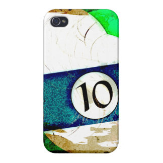 BILLIARDS BALL NUMBER 10 iPhone 4/4S CASES