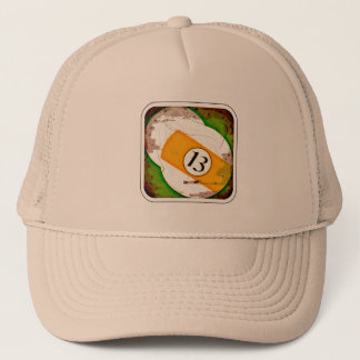 BILLIARDS BALL NUMBER 13 TRUCKER HAT
