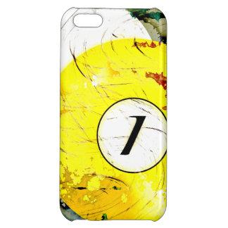 BILLIARDS BALL NUMBER 1 iPhone 5C CASE