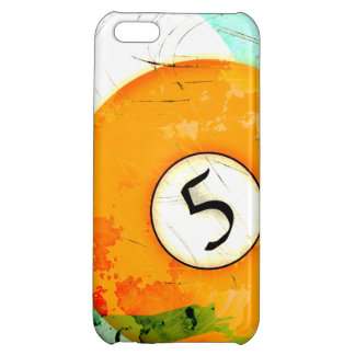 BILLIARDS BALL NUMBER 5 iPhone 5C COVERS
