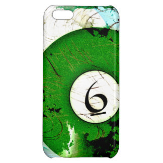 BILLIARDS BALL NUMBER 6 iPhone 5C CASE