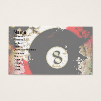 BILLIARDS BALL NUMBER 8 BUSINESS CARD