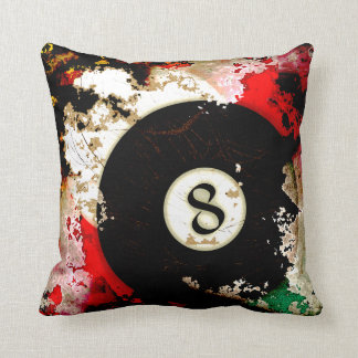 BILLIARDS BALL NUMBER 8 CUSHION