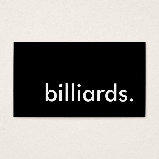 billiards. business card