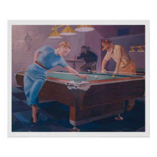 Billiards Dame Poster