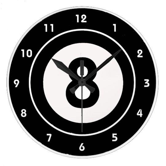 Billiards Eight-Ball Design Wall Clock