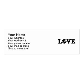 Billiards eight ball love business cards