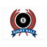 Billiards Eight Ball Postcards