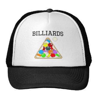 Billiards Eight Ball Rack Mesh Hats
