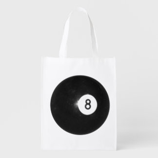 Billiards Eight Ball Grocery Bag
