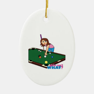 Billiards Girl Christmas Ornament