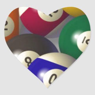 Billiards Heart Sticker
