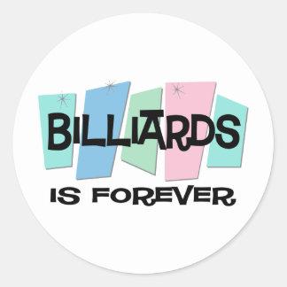 Billiards Is Forever Round Sticker