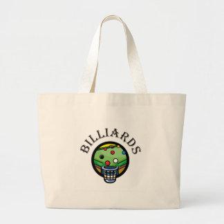Billiards Large Tote Bag