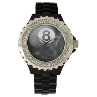 Billiards marble 8 ball watch