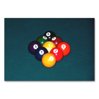 Billiards Nine Ball Table Cards