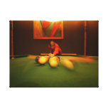 Billiards Player Perspective Gallery Wrap Canvas