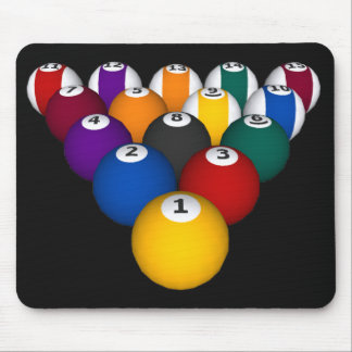 Billiards / Pool Balls - Custom Mousepad