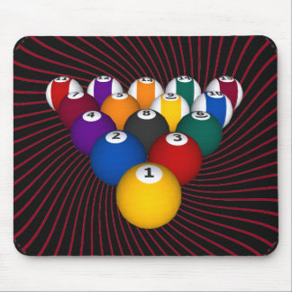 Billiards / Pool Balls: Custom Mousepad: Billiard Mouse Mat