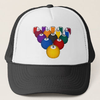 Billiards / Pool Balls - Custom Trucker Hat