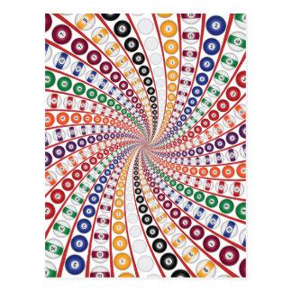 Billiards / Pool Balls Spiral: Postcard