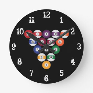 Billiards / Pool Balls: Wall Clock